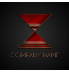 abstract company name logo vector image vector image