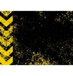grungy hazard vector image vector image
