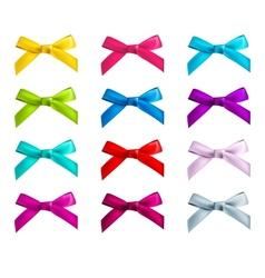 ribbon bows vector image vector image