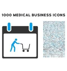 Shopping Cart Calendar Day Icon With 1000 Medical vector image