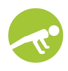 sport man silhouette active design vector image vector image