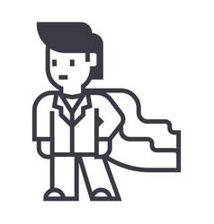 super hero businessman business line icon vector image