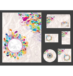 template for business artworks vector image