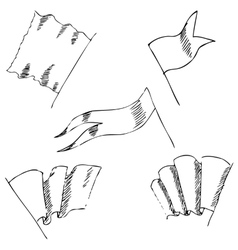 v4Flags sketch Pencil drawing by hand vector image