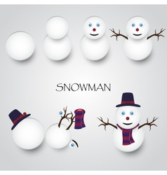 white winter happy snowman building eps10 vector image vector image