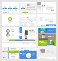 Flat website template elements for business vector image vector image