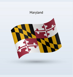 state of maryland flag waving form vector image