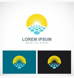 sun shine solar logo vector image