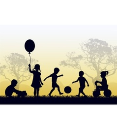 territory of a happy childhood vector image vector image