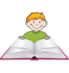 Child reading vector