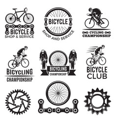 labels set for biking club of vector image vector image