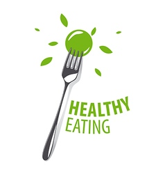 logo Fork for a healthy diet vector image