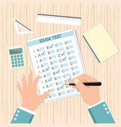 school exam test results vector image vector image