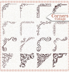Vintage Design Elements Corners And Borders vector image