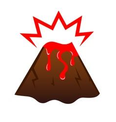 Erupting volcano vector image vector image