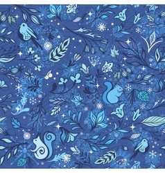 Magic Winter Forest Pattern vector image