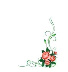 roses frame pattern background vector image vector image