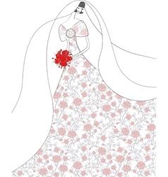 young elegant bride vector image