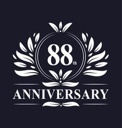 88 years anniversary logo 88th anniversary vector