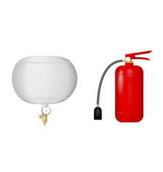 a set of fire extinguishers vector image