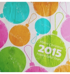 Abstract Christmas multicolored watercolor balls vector