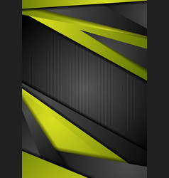 Abstract green black tech corporate background vector