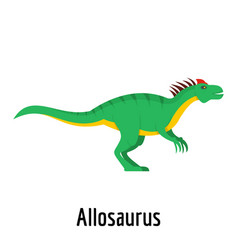 allosaurus icon flat style vector image