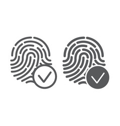 Biometrix line and glyph icon scanner and vector