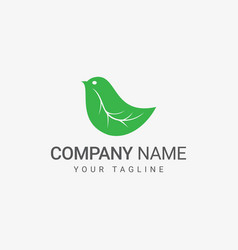 bird from leaf logo vector image