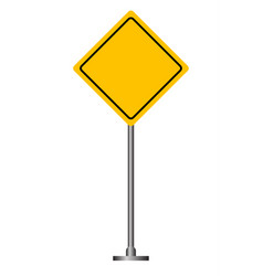 blank yellow road sign vector image