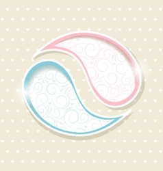 Blue and Pink Paisley frames vector