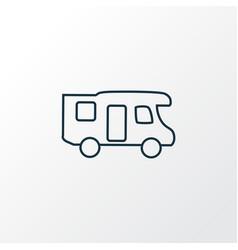 campervan icon line symbol premium quality vector image