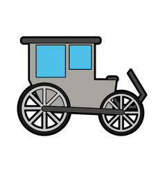 Carriage wagon icon image vector