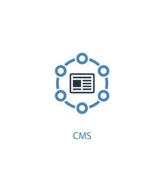 Cms concept 2 colored icon simple blue element vector