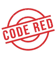 Code Red rubber stamp vector