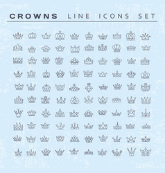 collection creative king and queen crowns vector image
