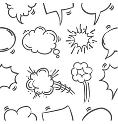Collection of text balloon hand draw vector
