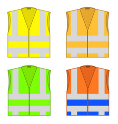 Colorful safety jackets protective workwear vector