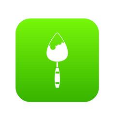 Construction trowel icon digital green vector