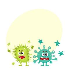Couple of virus germ bacteria microorganism vector