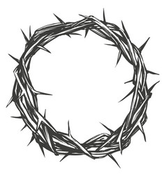 Crown of thorns easter religious symbol of vector
