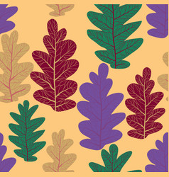 decor leaves pattern vector image