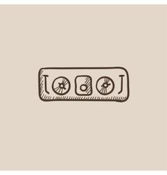 DJ console sketch icon vector image
