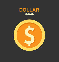 dollar currency concept vector image