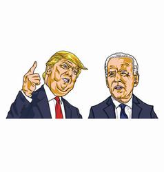 donald trump vs joe biden presidential election vector image