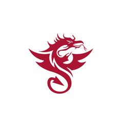 Dragon logo template vector