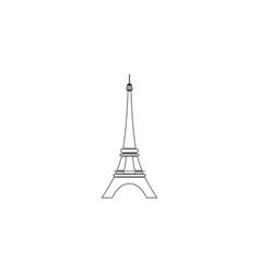 Eiffel tower in paris flat icon vector