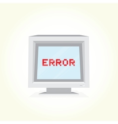 Error on computer screen vector image
