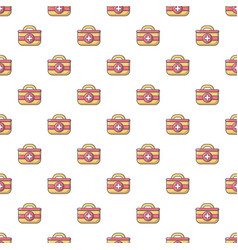 First aid bag pattern seamless vector