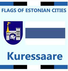Flag of estonian city kuressaare vector